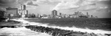 Cuba Fuerte Collection Panoramic BW - Malecon Wall of Havana Fotografisk tryk af Philippe Hugonnard