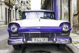 Cuba Fuerte Collection - Old Ford Purple Car Photographic Print by Philippe Hugonnard