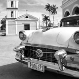 Cuba Fuerte Collection SQ BW - Classic Car in Santa Clara II Photographic Print by Philippe Hugonnard