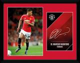 Manchester United - Rashford 17/18 Stampa del collezionista