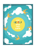 Live Gently Posters by Rebecca Lane