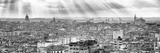 Cuba Fuerte Collection Panoramic BW - Rays of light on Havana II Reproduction photographique par Philippe Hugonnard