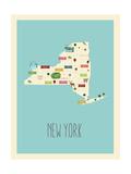 Mappa blu - New York Arte di Rebecca Lane