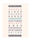 Benvenuto a tutti Poster di Rebecca Lane