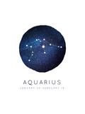 Aquarius Zodiac Constellation Print by Rebecca Lane