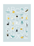 Blue Alphabet Posters by  Kindred Sol Collective