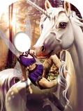 Unicorn & Fairy Fantasy Land Child Size Stand-in Pappfigurer