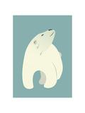 Oso polar Lámina por Rebecca Lane
