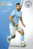 Manchester City - Aguero 17/18 Affiches