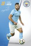 Manchester City - Aguero 17/18 Kunstdrucke