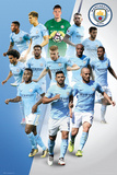 Manchester City - Players 17/18 Plakater