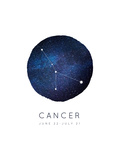 Cancer Zodiac Constellation Posters by Rebecca Lane