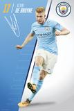 Manchester City - De Bruyne 17/18 Photographie