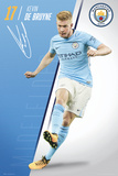 Manchester City - De Bruyne 17/18 Poster