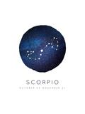 Scorpio Zodiac Constellation Prints by Rebecca Lane