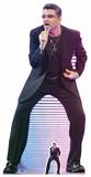 George Michael Singing - Mini Cutout Included Silhouettes découpées en carton