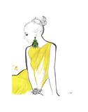 Yellow Sarong Posters av Jessica Durrant
