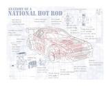 Anatomy National Hotrod Lámina giclée por Roy Scorer