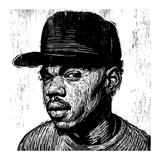 KC Chance the Rapper Gicléedruk van Neil Shigley