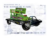 Anatomy V8 Stockcar Giclee Print by Roy Scorer