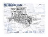 Annotated V8 Giclée-Druck von Roy Scorer