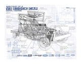 Annotated V8 Giclee Print by Roy Scorer