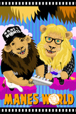 Manes World (Parodie affiche du film Wayne's world) Poster