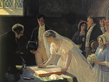 Signing The Register Giclee Print by Edmund Blair Leighton