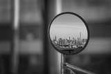 Reflection of NYC Skyline in Mirror Poster