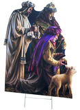 Three Wise Men Outdoor with Yard Stake Cardboard Cutouts