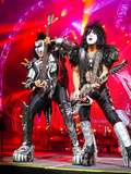 KISS - 40th Anniversary Tour Live - Simmons and Stanley Bedruckte aufgespannte Leinwand