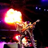 KISS - 40th Anniversary Tour Live - Gene Simmons Demon Spitting Fire キャンバスプリント