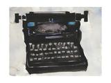 Typing II Premium Giclee Print by Samuel Dixon