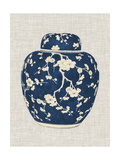 Blue & White Ginger Jar on Linen II Prints by Vision Studio