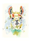 Hifi Llama I Premium Giclee Print by Jennifer Goldberger