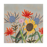 Thistle Bouquet II Premium Giclee Print by Victoria Borges
