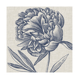 Indigo Floral on Linen II Posters by Vision Studio