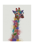 Rainbow Splash Giraffe 2 Lámina giclée prémium por  Fab Funky