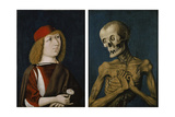 Hieronymus Tscheckenbürlin and the Personification of Death, 1487 Giclee Print by  German School