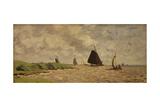 View from Voorzan, C.1871 Giclée-Druck von Claude Monet