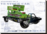 Anatomy V8 Stockcar Stretched Canvas Print by Roy Scorer