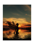 Fairy at Sunset Prints by Julie Fain