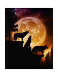 Wolves Peak Giclée-Premiumdruck von Julie Fain