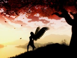 Angel at Dawn Prints by Julie Fain