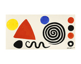 Abstraction, 1966 Plakat av Alexander Calder