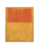 Orange and Tan, 1954 Prints by Mark Rothko