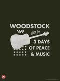 Woodstock- Guitar Poster キャンバスプリント