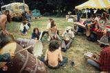 Woodstock- Drum Circles Poster van  Epic Rights
