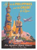 Fly to the Philippines - and the Orient by Clipper - Pan American World Airways Kunstdruck von Mark Von Arenburg
