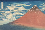 South Wind, Clear Sky Giclee-trykk av Katsushika Hokusai